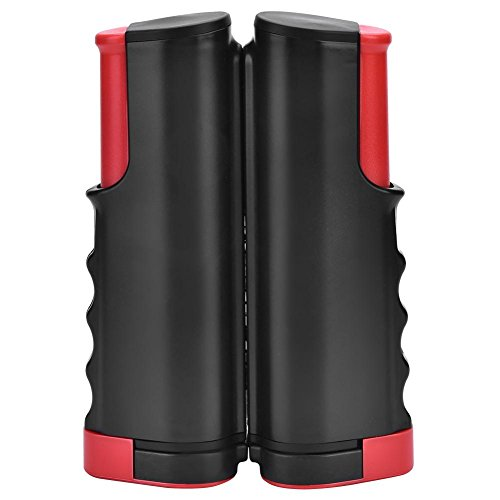 Alomejor Red de Tenis retratable Neto portátil de los Tenis de Mesa Red del reemplazo de los Accesorios del Tenis del Estante para los Deportes del Ping-Pong(Black&Red)
