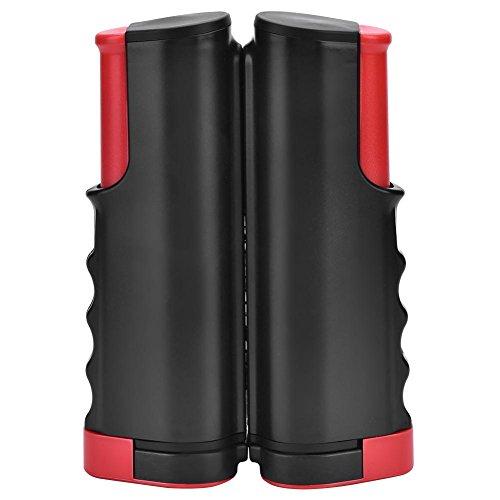 Rete da Ping-Pong, Portatile Accessori da Ping-Pong in PE Reti a Scomparsa per Gli Sport di Ping-Pong (Black&Red)