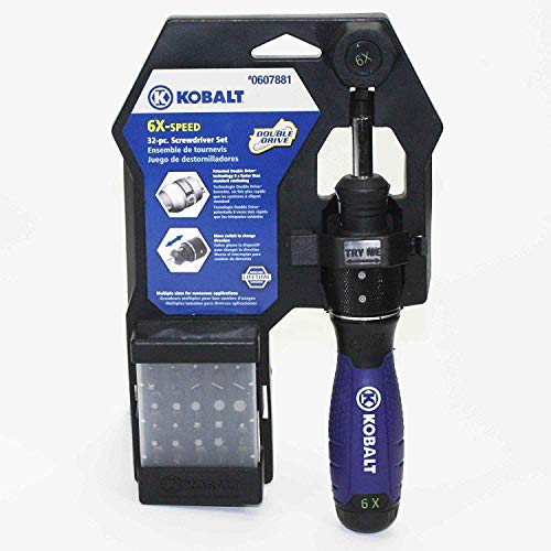 Kobalt 6x-Speed Double Drive 32-pc. Screwdriver Set
