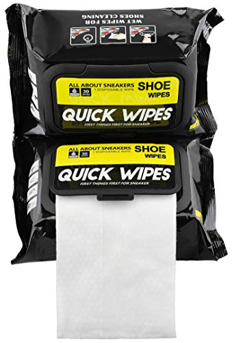 Shoe wipes 2 Pack 60 Pcs Sneaker Wipes Cleaner Quick Wipes Disposable Travel Portable Removes Dirt, Stains