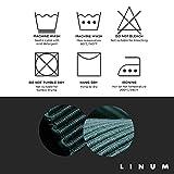 Linum Uni Dekoratives Tischläufer für Esstisch 45cm x 150cm, 100% Gerippte Baumwolle, Maschinenwaschbar, Maulwurfbraun - 4