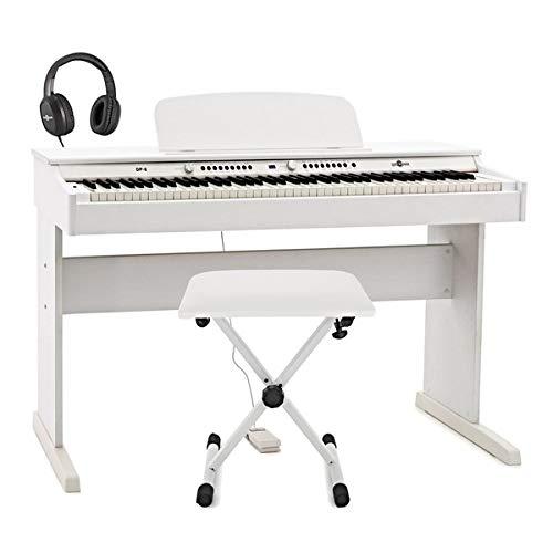 Piano Digital DP-6 Gear4music + Paquete de Accesorios Blanco