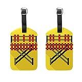 DEZIRO Xylophone Marimba Lot de 2 étiquettes de voyage pour bagages