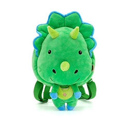 SMONT Cartoon Kid Plush Backpack Cute Dinosaur Mini Animal Toddler Bag for Baby Boy and Girl Age 1-5 Years