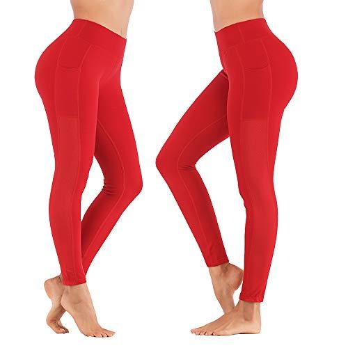 SPFASZEIV Laufhose Damen Hohe Taille Yogahose mit Tasche,Sportleggings Yoga-Hose Leggins Stretch Hose Tight Hose für Yoga...