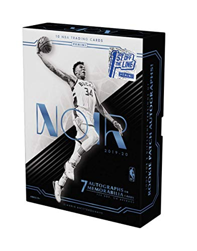 2019-20 Panini NOIR Basketball HOBBY Box - FIRST OFF THE LINE! - 7 Autographs or Memorabilia Card Per Box PLUS FOTL EXCLUSIVE Gold Metal Frame Card #'d /11 - Chase Valuable ZION WILLIAMSON Auto. Cards!