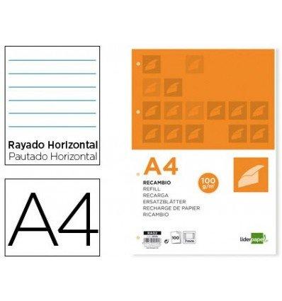 Liderpapel RA09 - Papel de recambio, A4, 1 Paquete con 100 hojas