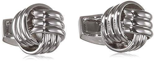 Tateossian Men's, Silber Manschettenknöpfe im Knoten-Design, Silber
