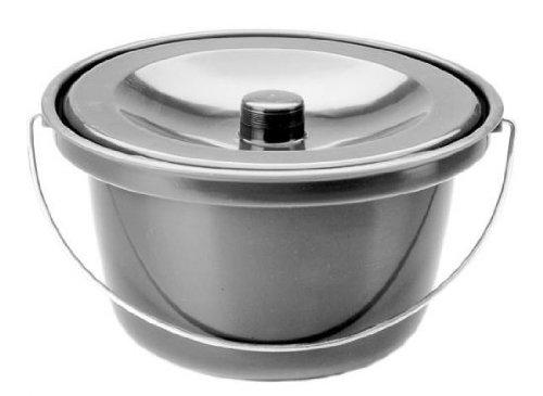 Toiletteneimer Farbe grau von Behrend-Homecare 21500200
