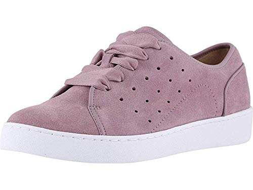 Vionic Women's Splendid Keke Lace-up Sneakers - Ladies Walking Shoes Concealed Orthotic Arch Support Mauve Suede 11 M US