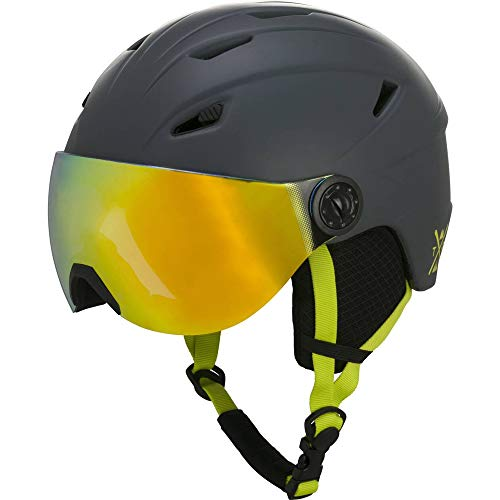 TECNOPRO Kinder Pulse JR S2 Visor HS-016 Ski-helm, GREY DARK, XS