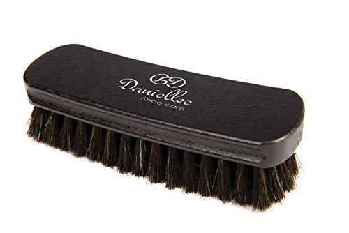 Kabber Danielle Schuhbürste | Polierbürste und Glanzbürste | 100% Rosshaarbürste für Schuhe und Stiefel