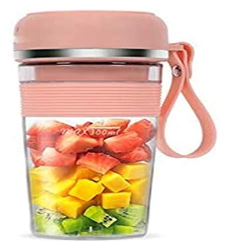 Portable Juicer Cup Mini Electric Juice Maker 300ml Juice Milkshake Smoothie Blender juicer machines LHAHGLY (Color : Pink)