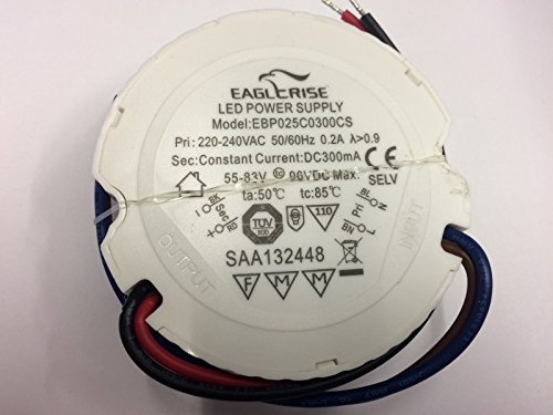 LED Driver Eaglerise 25W 300mA EBP0250300CS Power Supply Treiber rund