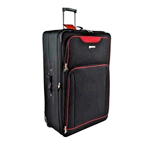 32' Extra Large Super Lightweight Durable Hold Travel Luggage Trolley Suitcase (Black, 17)