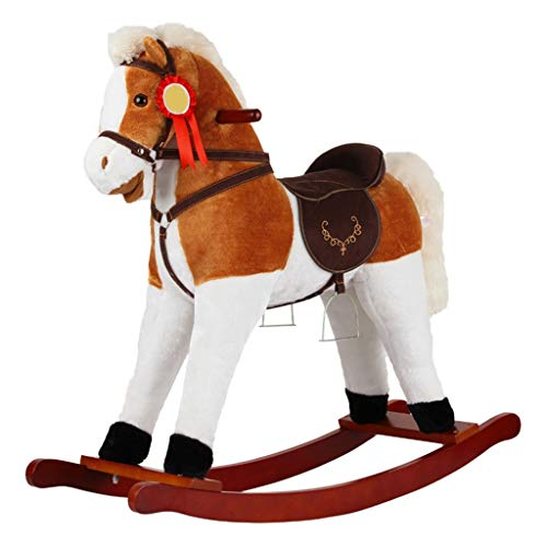 LINGZHIGAN Cheval de Troie Rocking Musique en Bois Massif for Enfants Rocking Horse Baby Toy Cadeau d'anniversaire