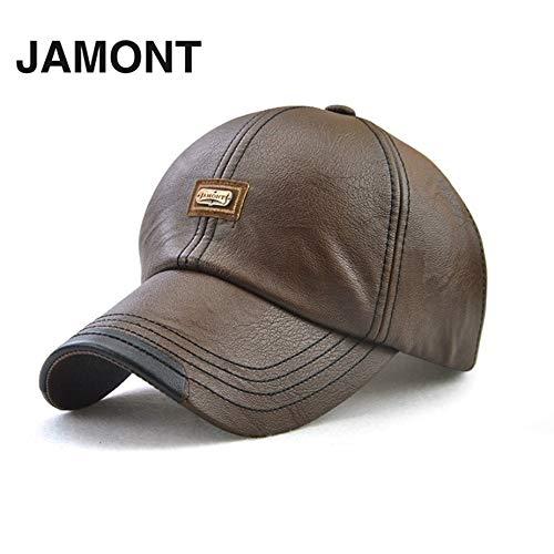 Nowakk JAMONT 12966 Weiche Männer Baseballmütze Komfortable Männliche Baseball-Mütze Mode PU Schirmmütze Verstellbarer Hut Für Herbst Winter