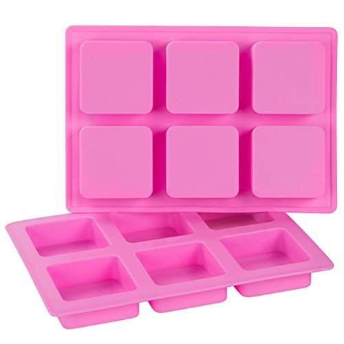 Webake Silicone Brownie Pan 2 Pack Square Bar Molds For Baking, Cupcake, Cheesecake, Cornbread, Muffin, Sponge Cake, Soap, Resin Epoxy Casting