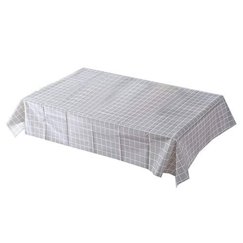 JUNGEN Mantel Antimanchas Mantel Rectangular de PVC Mantel de Mesa de pequeña con Impresión a Cuadros Mantel Impermeable para Decoracion de Comedor Cocina Jardin 90×137cm (Gris 3)