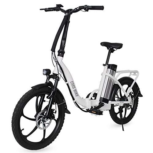 LFANH Bicicleta Plegable Eléctrico E De Bicicletas, hasta 30 Km/H, 20 Pulgadas...