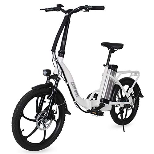 LFANH Bicicleta Plegable Eléctrico E De Bicicletas, hasta 30 Km/H, 20 Pulgadas Ajustable Plegable del Ciclomotor Bicicletas Bicicleta Eléctrica, La Batería Recargable De 36V 250W /,Naranja