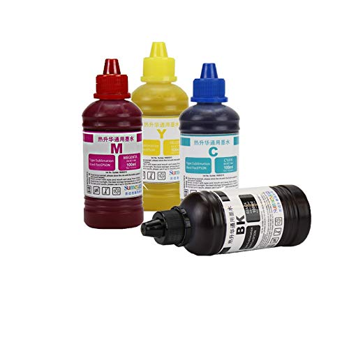 Tinta Sublimatica Conjunto com 4 cores de 100ml