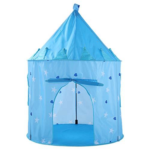 Sterrenhemel Speel tent Draagbaar Opvouwbaar vouwen Tent Klamboe Kinderen Boy Cubby Speel Huis Kinderen Geschenken buiten Speelgoedtenten Kasteel,Blue