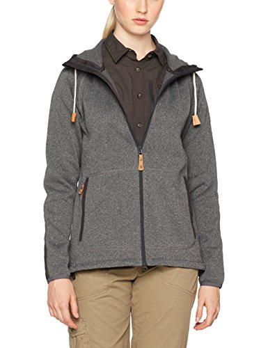 FJÄLLRÄVEN Damen Övik Fleece Hoodie, Dark Grey, L