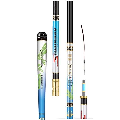 Pesca Rod Casting de Carbono y Barra de Pesca ultraligen telescópica  Pole de Pesca Barras de acción más Fuertes y sensibles Agua Salada y Equipo de Pesca de Agua Dulce telescópico caña de Pescar