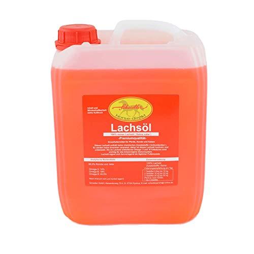 Horse-Direkt Premium Lachsöl 2,5 Liter Kanister Für Hunde & Katzen - Kaltgepresst Ohne Zusatz, Fischöl Mit Omega 3 und Omega 6 Fettsäuren, Barf Öl Ergänzung, Gesundes Naturprodukt