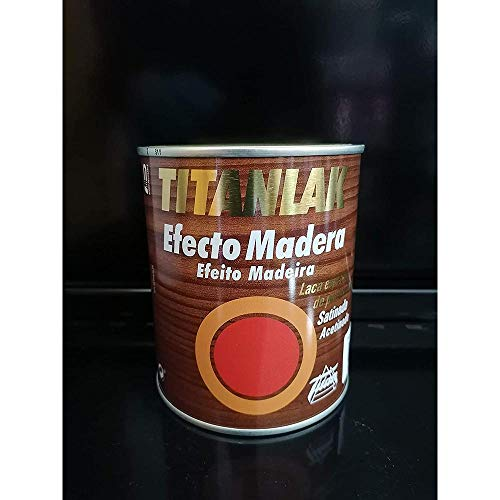 Industrias Titan. S.L 24280934 - Laca satinada poliu. 750 ml nogal cl ef.mad titan titanlak