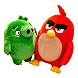 Juego Angry Birds Plush Toy Red Chuck Bomb Cute Pillow Doll Stuffed Anime Doll For Kids Birthday Gift 4 Styles 17cm 2 Piezas