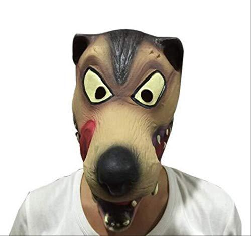 tytlmask Maschera Testa di Lupo Spaventoso, Maschere di Lattice del Diavolo Terrore, Maschere di Animali in Gomma Horror, per La Festa di Halloween di Natale di Carnevale, Formato Adulto Adatto