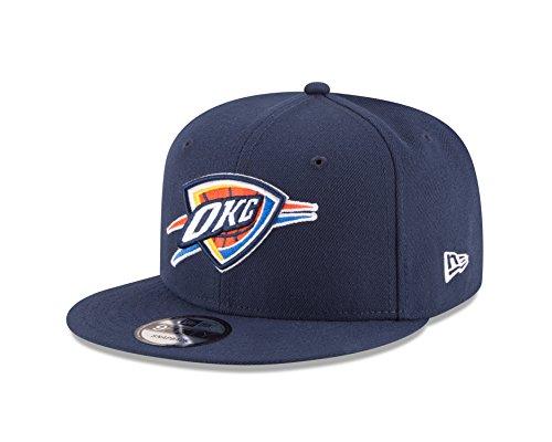 New Era NBA Oklahoma City Thunder Adult Men NBA 9Fifty Team Color Basic Snapback Cap,OSFA,Navy