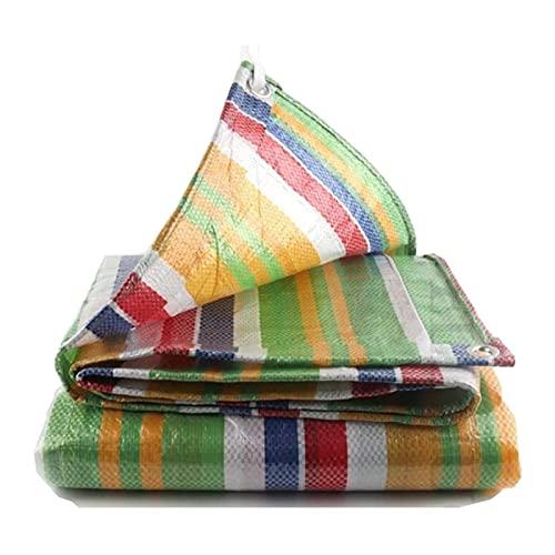 MWXFYWW Lona para Acampar, Cubierta de Tela a Prueba de Lluvia para Invernaderos, Tela para Toldos para Ventanas de Terraza, Lona de PE Impermeable para Muebles, Multiusos Lona de Viento(Size:2x10m)