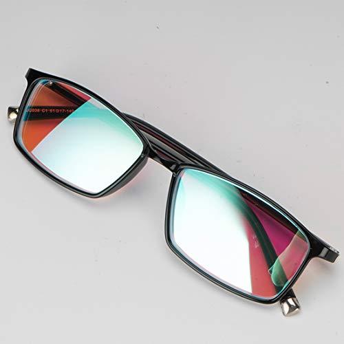Gafas correctivas daltónicas para daltónico rojo/verde (gafas daltónicas), trastorno de la visión del color Debilidad del color Arte Diseño de construcción química Unisex,FullFrame