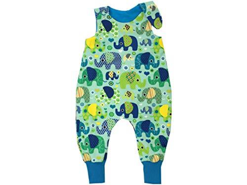 Kleine Könige Baby Strampler Jungen Baby Body · Modell Elefantenparty türkis petrol · Ökotex 100 zertifiziert · Größen 86/92