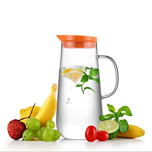 Koffie en Thee Karaf Glazen Bubble Theepot Explosiebestendige Verwarming Sap Pot Thuis Koel Water Fles Met Deksel Filter Fruit Theepot 1250ml