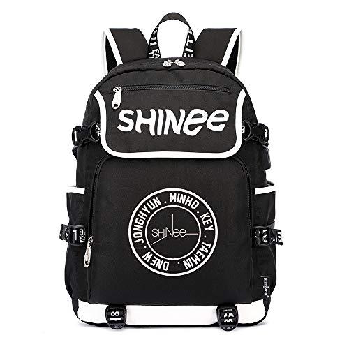 Shinee Rucksäcke Schulranzen Rucksack Daypack Trekkingrucksack Mann und Frauen Wandern Bag Trend Fashion Sports Wild Style Shinee Backpacks (Color : Black15, Size : 45 X 37 X 16cm)