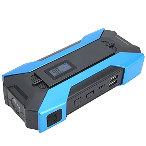 Dilwe Arrancador portátil con Capacidad de batería incorporada de 12000 mAh con Luces LED Ajustables con función de protección múltiple