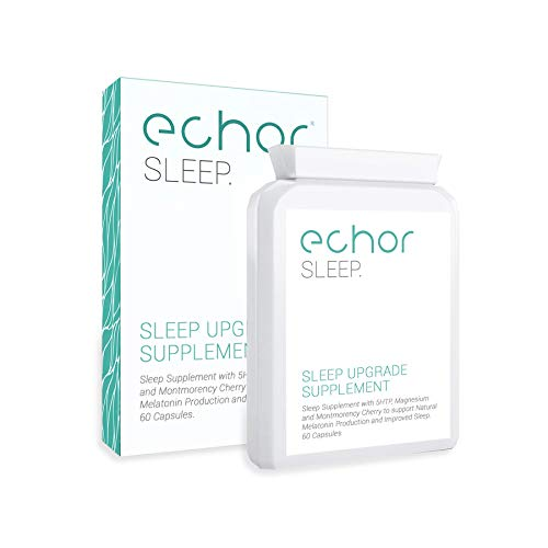 Echor 5-HTP Sleep Supplement with Magnesium and Montmorency Cherry to Support Natural Melatonin Production and Improved Deep Restful Sleep. 60 Capsules