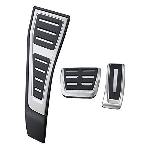 Accesorios de Coche de Acero Inoxidable, para Audi A4 B9 A5 S4 8W 2016 2017 2018 AT RHD Reposapiés Gas Modificar Pedal Placa de decoración Pad 3 Piezas