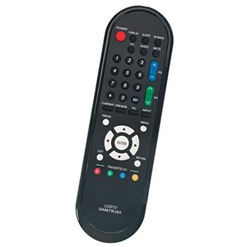 GA667WJSA TV Remote Replacement for Sharp Aquos TVs LC-46SB57UN LC-52D78UN LC-52SB55U LC-52SB57U LC-32D44U LC-32D47U LC-60LE550U LC-60LE600U LC-C60LE630 LC-32D49U LC-46D78UN LC-46SB54U LC-46SB57U