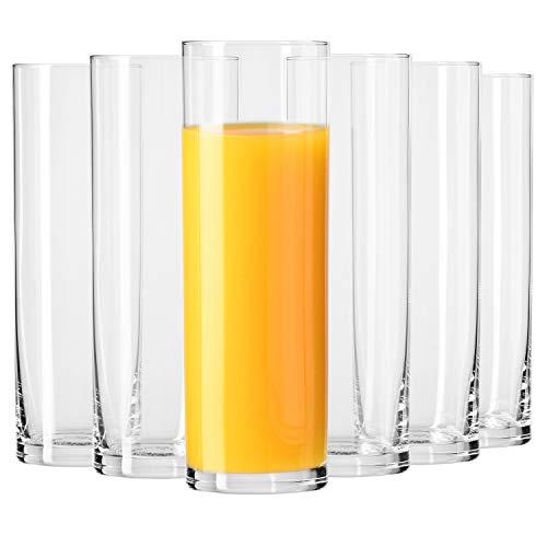 Krosno Bicchiere da Bevande Acqua   Set di 6 Bicchieri   200 ml   Collezione Pure   Ideale per la Casa, Ristorante Feste e Ricevimenti   Adatto alla Lavastoviglie ed al Forno a Microonde