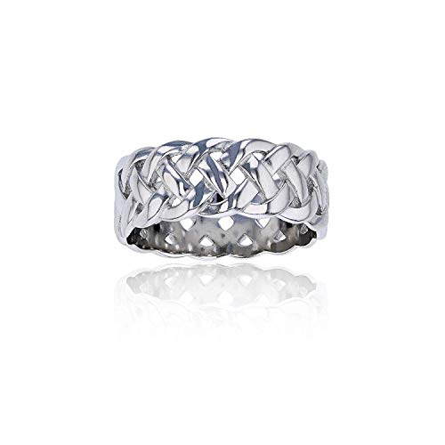 Sterling Silver Celtic Eternity Knot Ring For Women and Girls | Eternity Knot Rings | Hypoallergenic Rings | 925 Sterling Silver Rings for Women and Girls, Size
