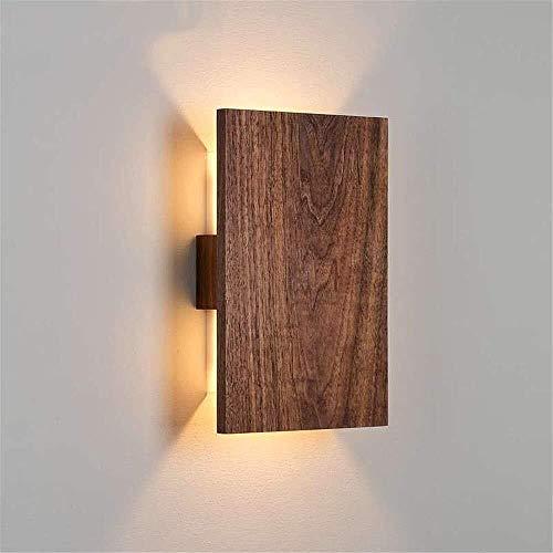 Wandverlichting van massief hout wandlamp nachtkamer eenvoudige moderne lamp kinderkamer decoratie stabiele structuur houten wandlampen