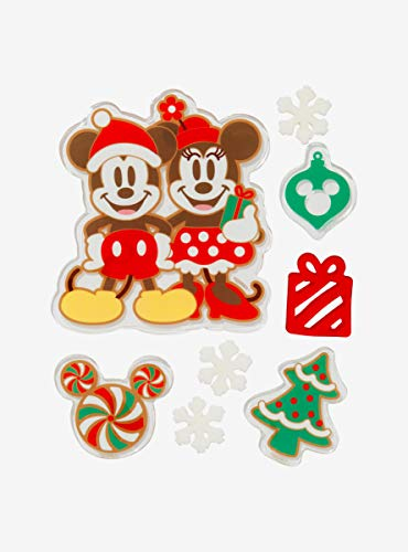 Disney Mickey Mouse Minnie Mouse Holiday Gel Window Cling Set