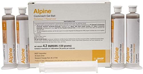 Alpine CockRoach Gel Bait Easy-to-use 4 30 gram Max 87% OFF Tubes