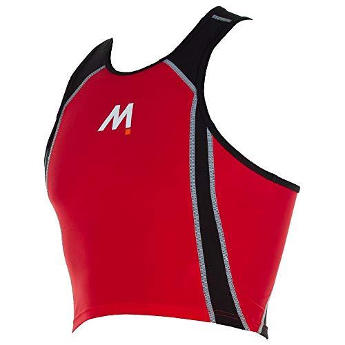 Mosconi Unisex Triatlon Top, Pequeño, Rojo/Negro