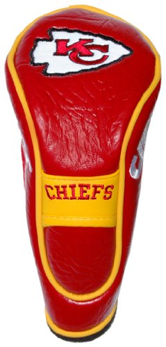 Team Golf NFL Kansas City Chiefs Hybrid Golf Club Headcover, Hook-and-Loop Closure, Velour lined for Extra Club Protection